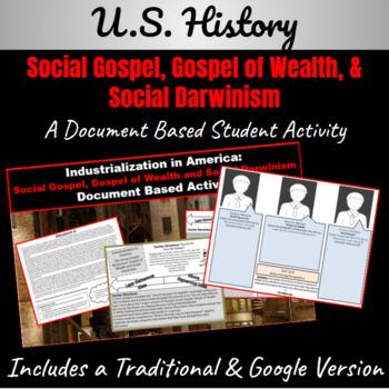 Industrialization: Social Gospel,Gospel of Wealth, Social
