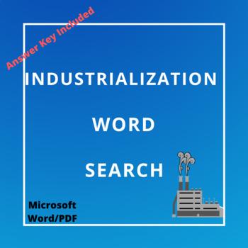 Industrialization Word Search