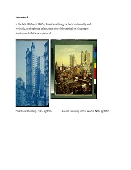 Industrialization and Immigration Lesson 1- Growing cities