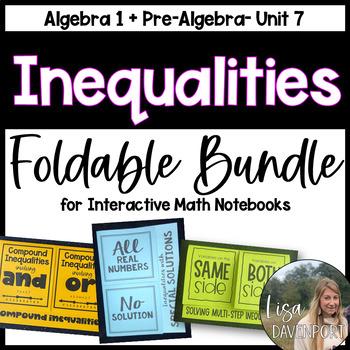 Inequalities (Algebra Foldable Bundle)