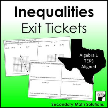 Inequalities Exit Tickets (or Warm-ups)