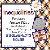 Inequalities Foldable for Interactive Notebook  with Lesso