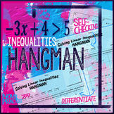 Inequalities Hangman: Solve Multi-step Inequalities Hangman style