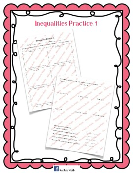 Inequalities Practice 1