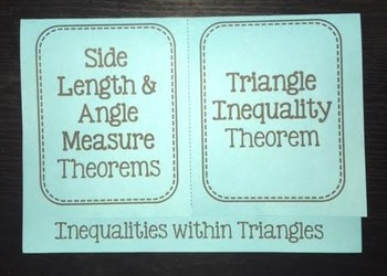 Inequalities within Triangles (Geometry Foldable)