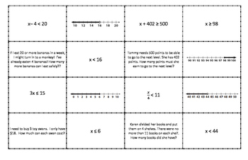 Inequality, Problem, Solution, and Graph Matching Game