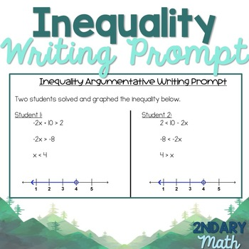 Inequality Writing Prompt