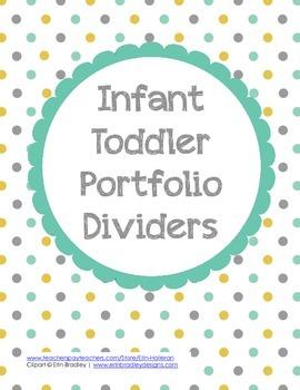 Infant Toddler Portfolio Dividers