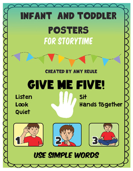 Infant and Toddlers SPED story time rule posters