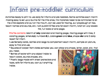 Infant pretoddler curriculum