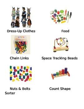 Infant/Toddler Shelf Labels