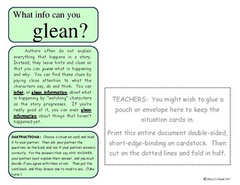Inference Activity #4: Gleaning Information Cards