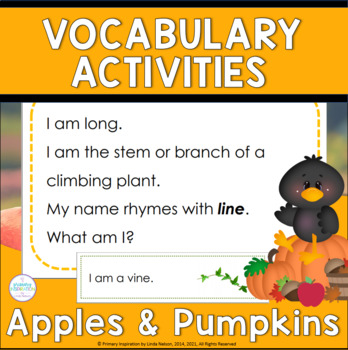 Apple and Pumpkin Riddles for Inference, Key Details, and