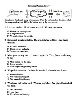 Inference Practice Review