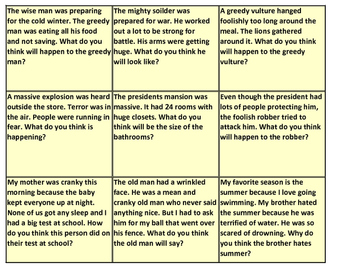 Inference Reading Task Cards (27 cards)