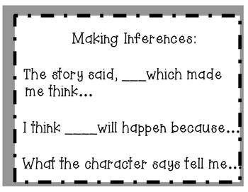 Inference Sentence Frames