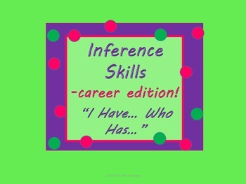 """Community Helpers Inference Skills Game & Practice  with """""""
