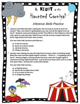 Inference Skills Practice: A Night at the Haunted Carnival!