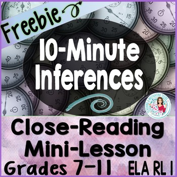 10-Minute Inferences - RL 1 Read Story, Draw Conclusions,