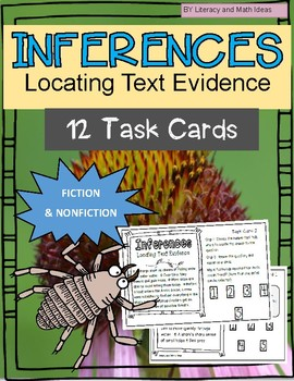 Inference Task Cards:  Locating Text Evidence