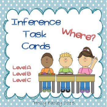Inference Task Cards-Where?-3 Levels-for Autism,Special Ed