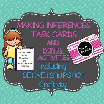 Inference Task Cards or Scoot with Bonus Craftivity and In