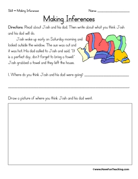 Printables Inferencing Worksheets 5th Grade inference worksheets by have fun teaching teachers pay worksheets