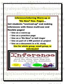 Making Inferences Warm-up or Do Now Pages (log, bell-ringe