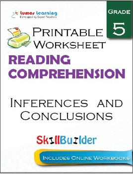 Inferences and Conclusions Printable Worksheet, Grade 5