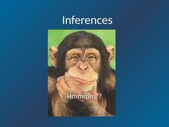 Inferences in writing!
