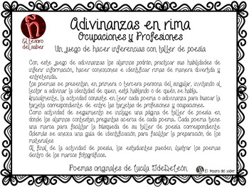 Inferencias con Adivinanzas y Poemas - Taller de poesía -