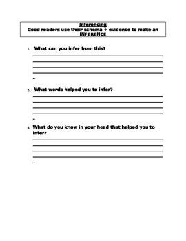 Inferencing Sheet