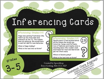 Inferencing Task Cards - 3-5 Grade {cc aligned} COMPLETE B