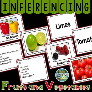 Inferencing Task Cards with Fruits and Vegetables