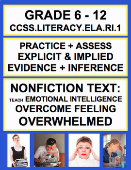 Inferencing + Text Evidence with SEL Nonfiction Article: F