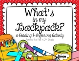 Inferring Activity {Back-to-School Themed}