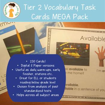 Test Prep Tier 2 Vocabulary Cards Growing Bundle