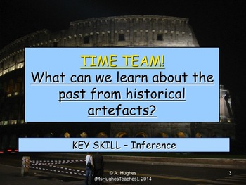 Investigating historical Artifacts. 'Time Team' inferring