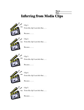 Inferring from Media Clips