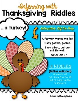 Inferring with Thanksgiving Riddles: {Lift the Flap!} Kind