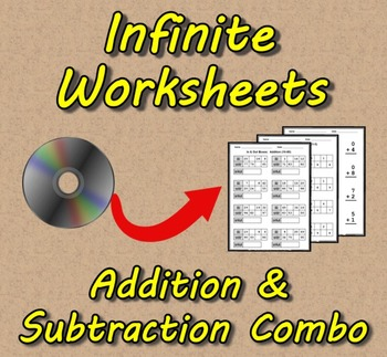 Infinite Worksheets: Addition/Subtraction Combo (Worksheet