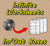 Infinite Worksheets: In & Out Boxes (Math Worksheet Genera