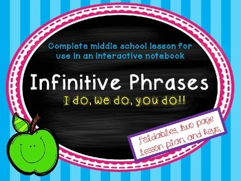 Infinitive Phrase Foldable for an Interactive Notebook