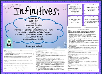 Infinitives & Their Functions Complete Instructional Bundl