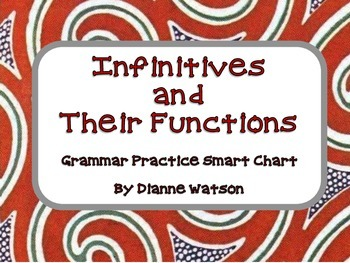 Infinitives and Their Functions: Grammar Practice Smart Charts