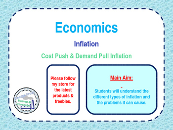 Inflation - Cost Push & Demand Pull Inflation & Problems o