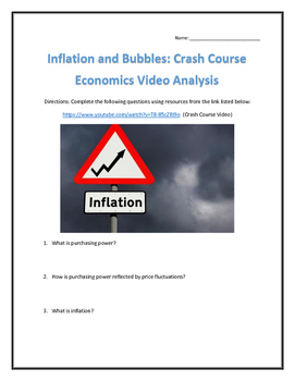 Inflation and Bubbles: Crash Course Economics- Video Analy