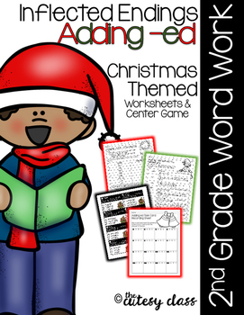 Inflected Endings Adding -Ed - Christmas Themed