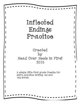 Inflected endings practice