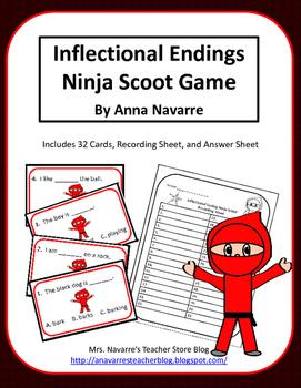 Inflectional Ending Ninja Scoot Game